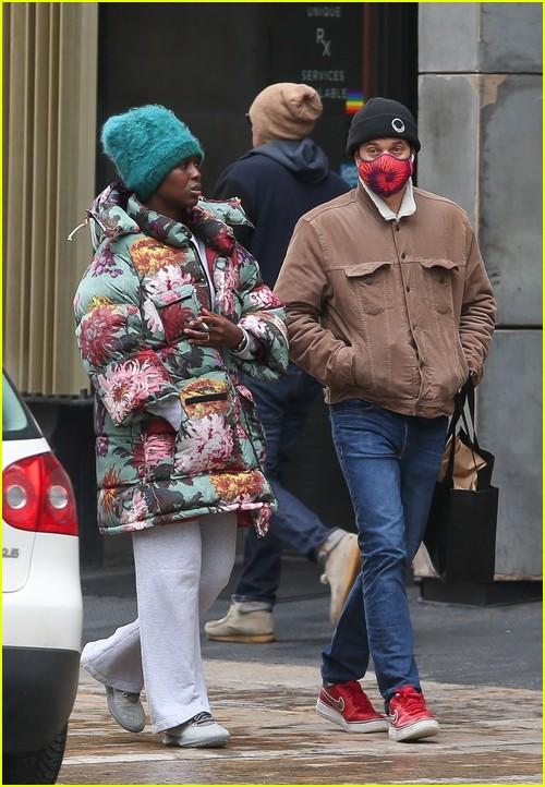 Joshua Jackson and Jodie Turner-Smith in New York City
