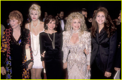 The stars of 'Steel Magnolia' walk the red carpet in 1989
