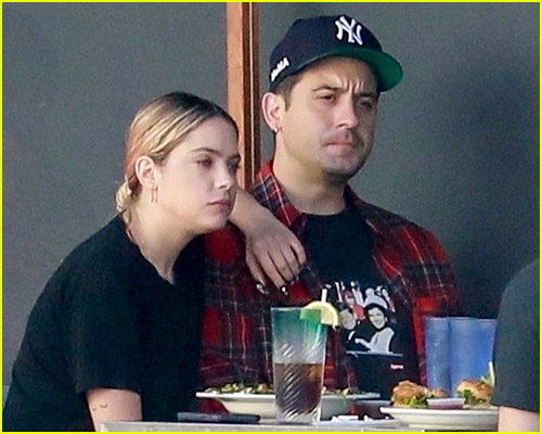 Ashley Benson and G-Eazy at lunch