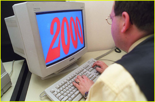 Computer with the number 2000