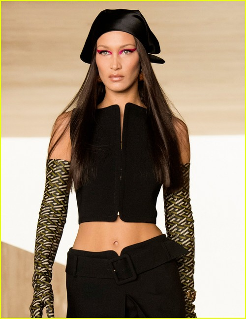 Models in Versace Show