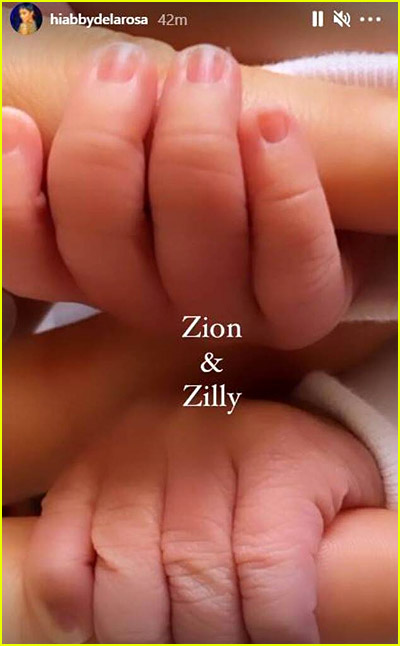 Zion & Zillion Cannon baby hands