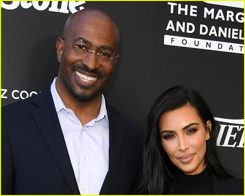 Kim Kardashian with Van Jones