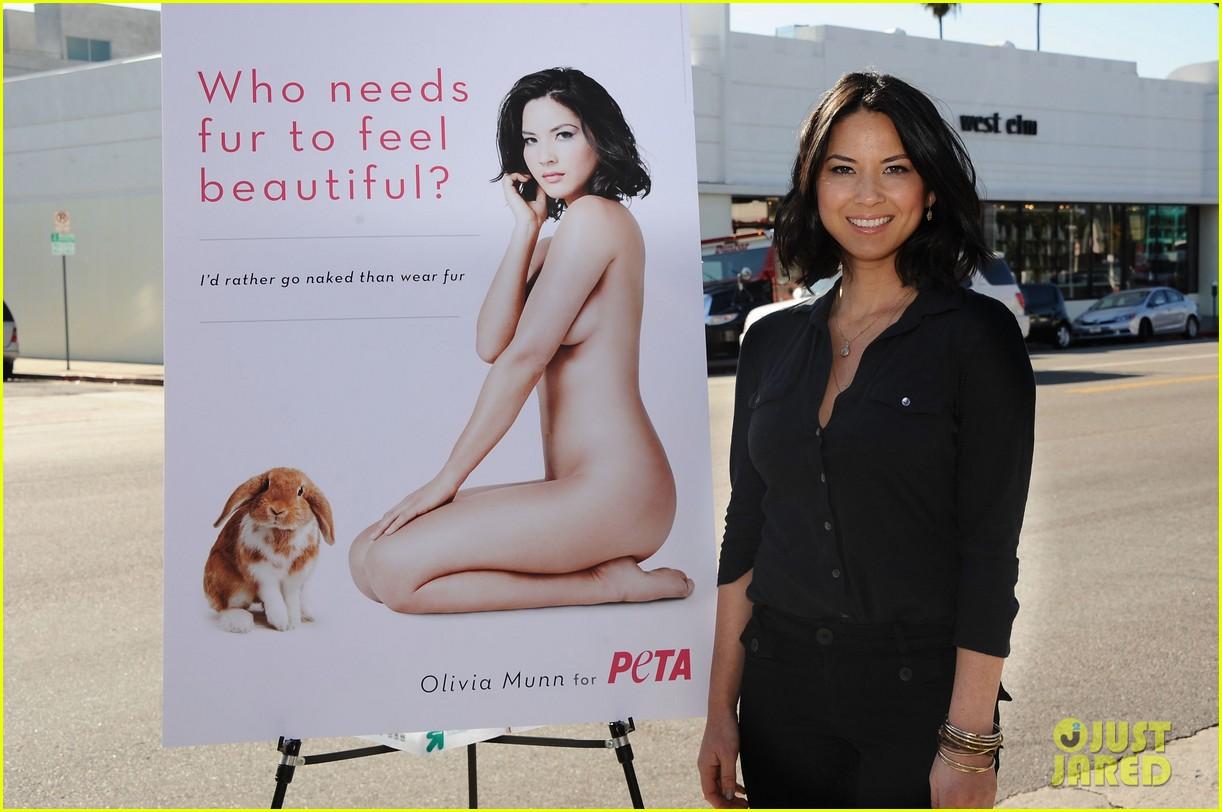 Olivia Munn: Nude PETA Ad Unveiled!: Photo 2616996