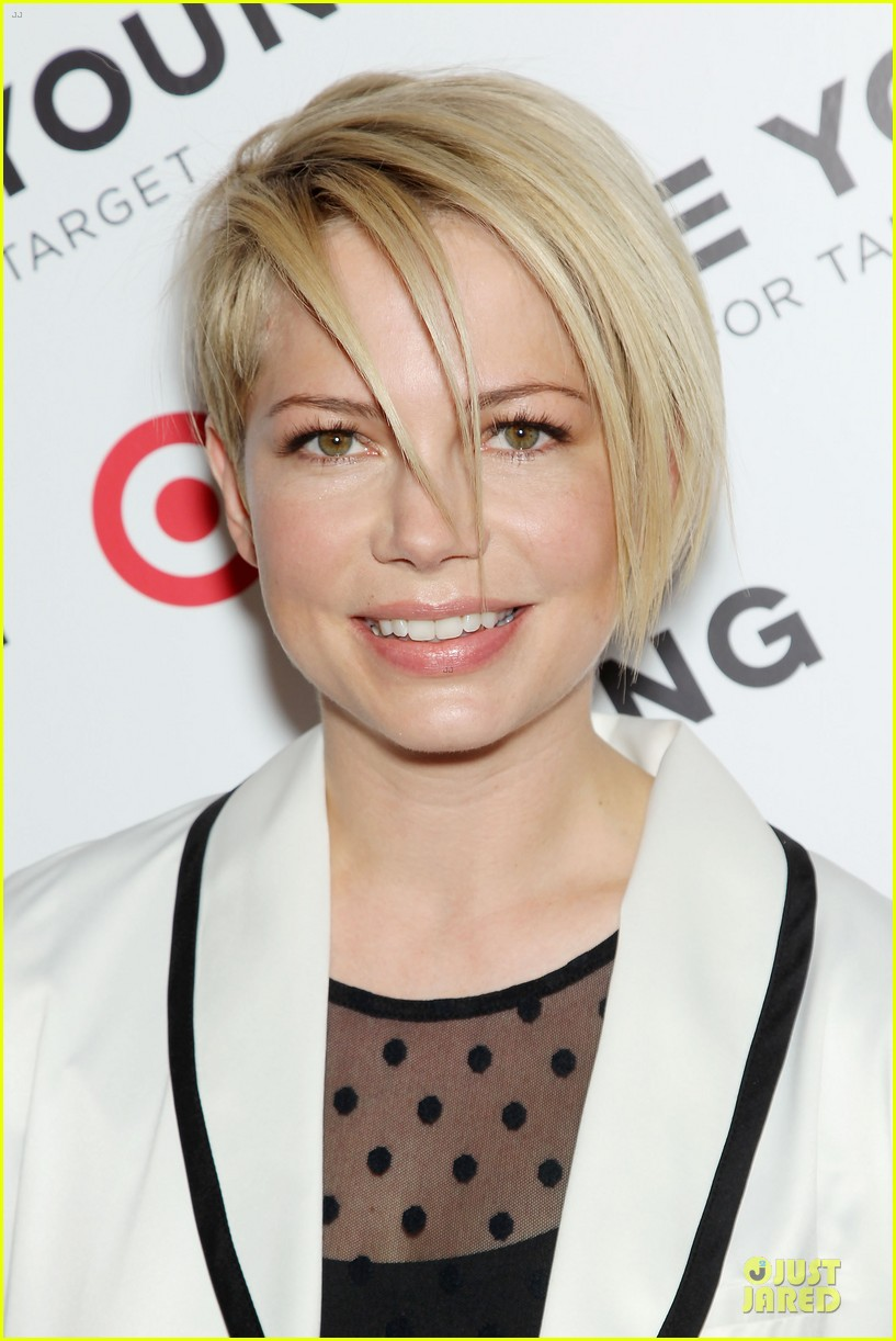 michelle williams haircut debut at kate young for target launch 022846434