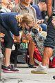 amanda seyfried kisses finn during friday walk 30