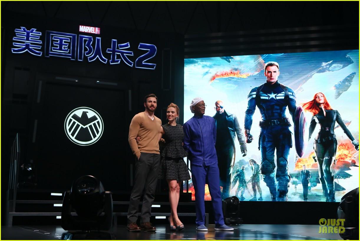 Scarlett Johansson & Chris Evans Bring 'Captain America ...