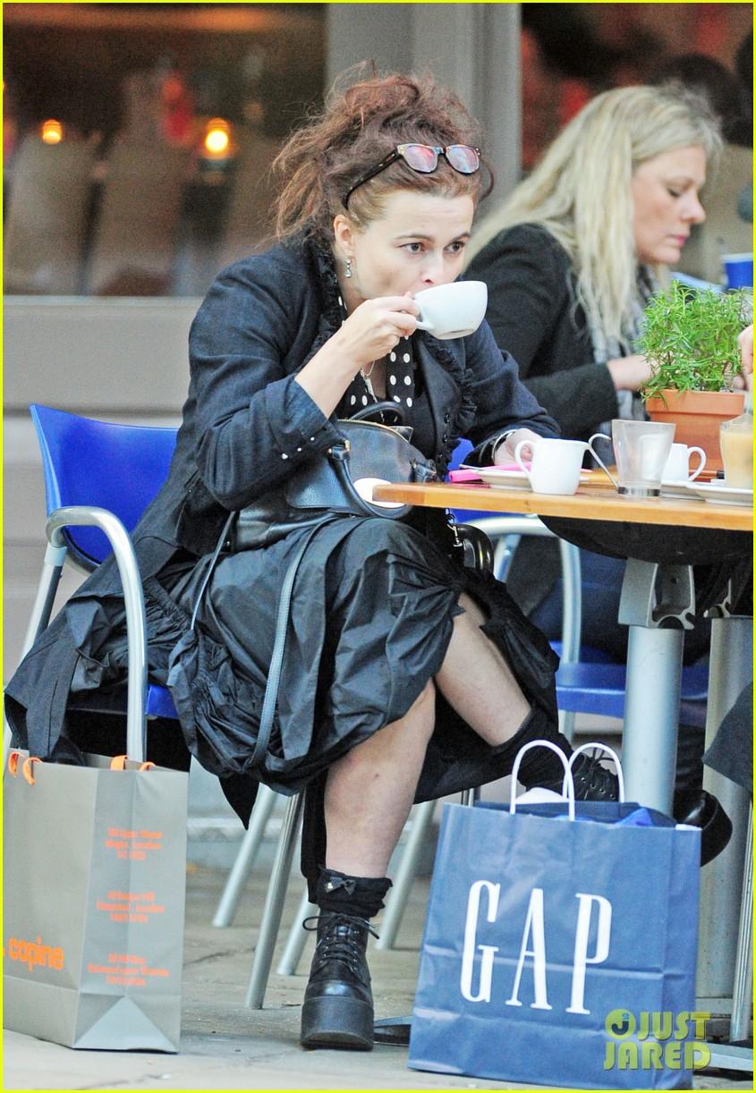 helena bonham carter wears interesting all black outfit 063218431