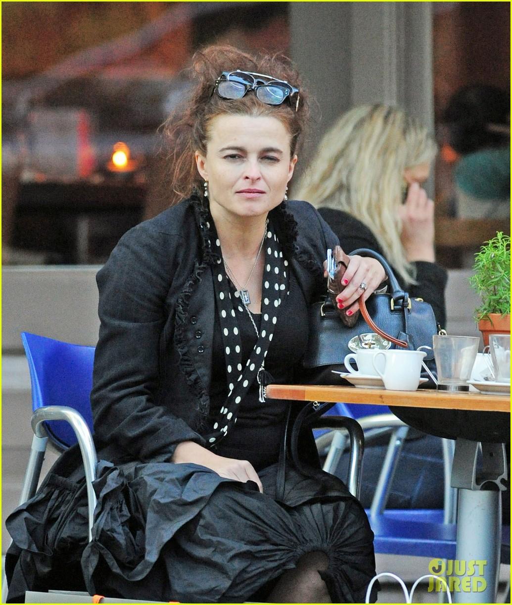 helena bonham carter wears interesting all black outfit 083218433