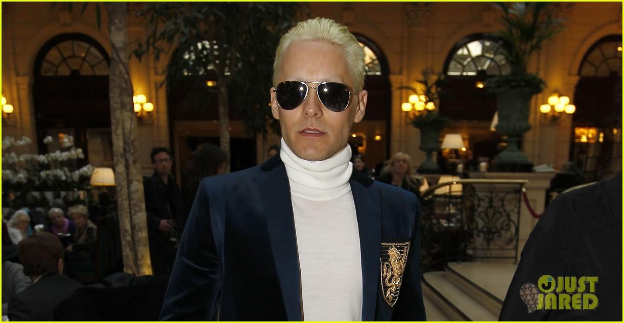jared leto debuts platinum blonde short hair cut 063318818