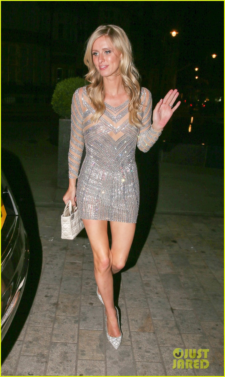 nicky hilton changes into short dress after her wedding 103413253