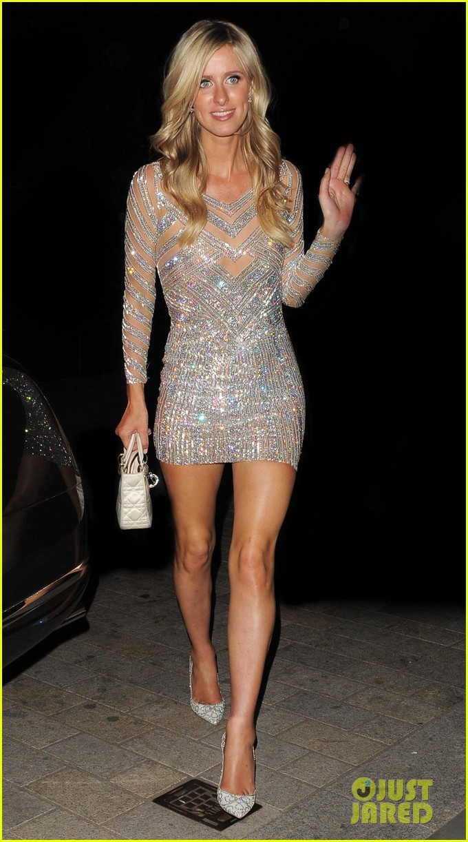 nicky hilton changes into short dress after her wedding 153413258