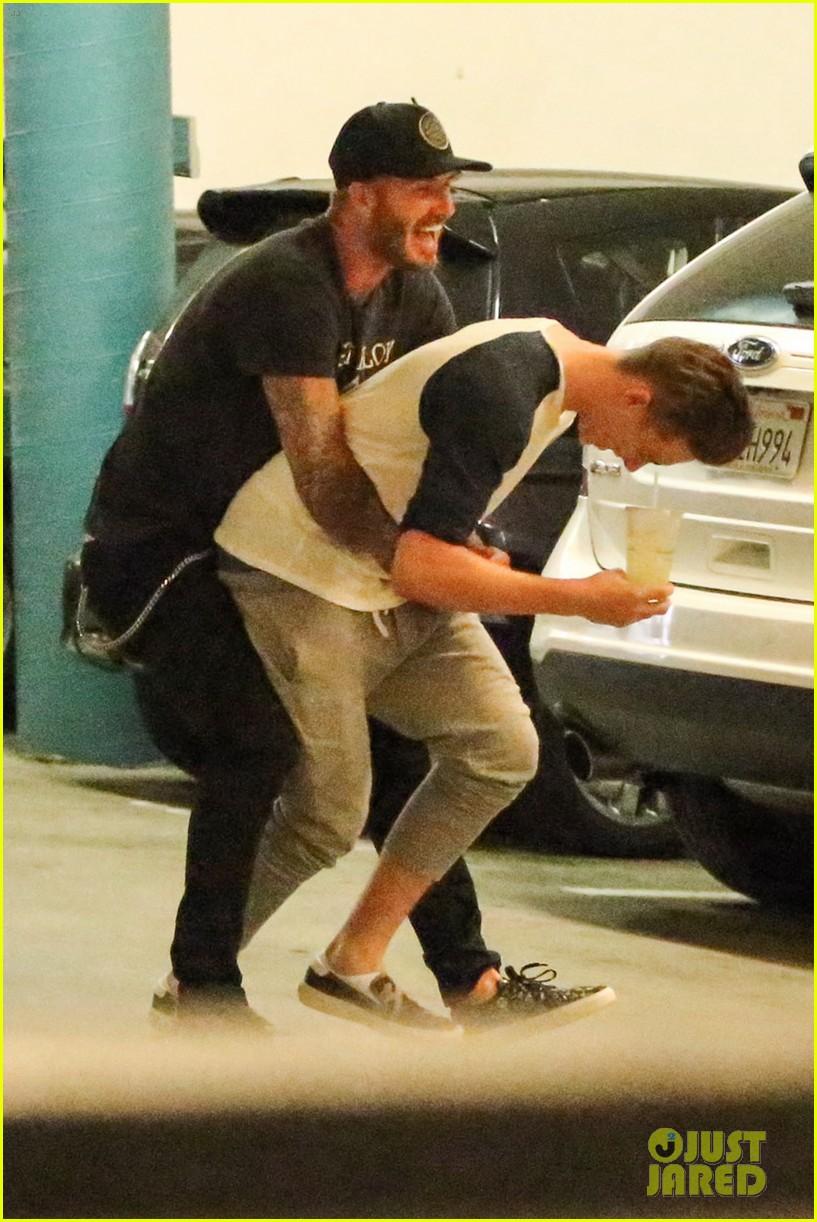 Brooklyn Beckham Supports Girlfriend Hana Cross at