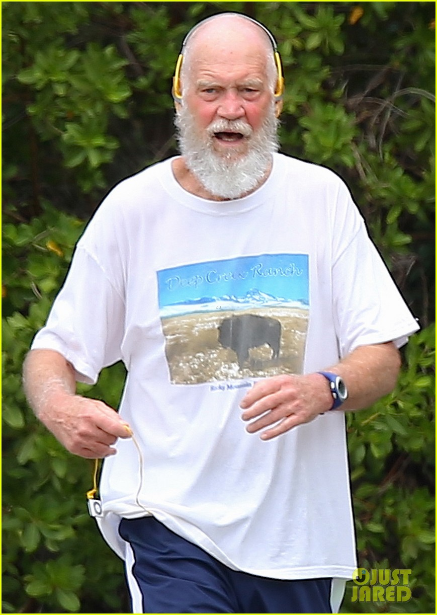 unrecognizeable david letterman goes for a jog in st barts 043614610