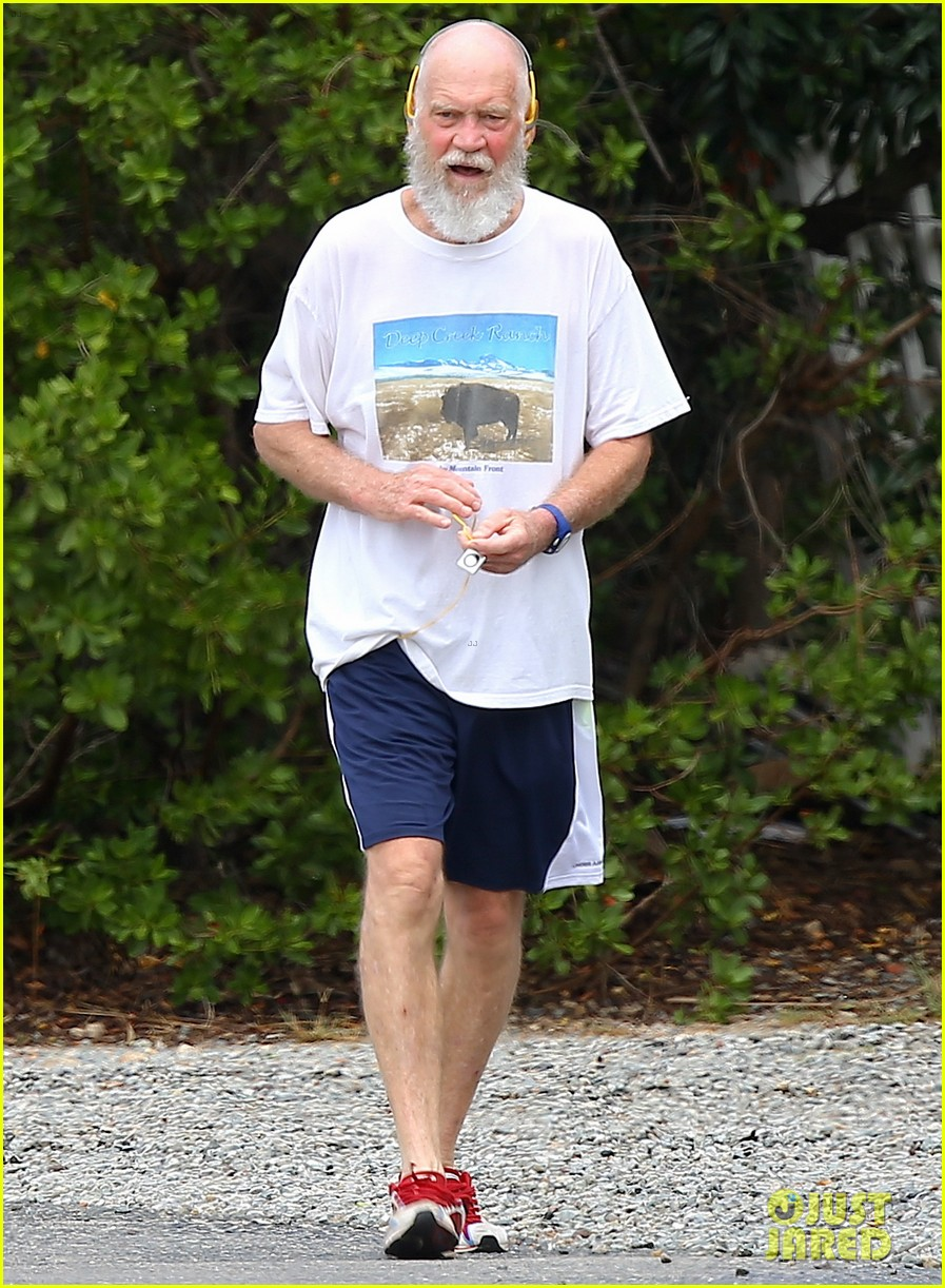 unrecognizeable david letterman goes for a jog in st barts 083614614