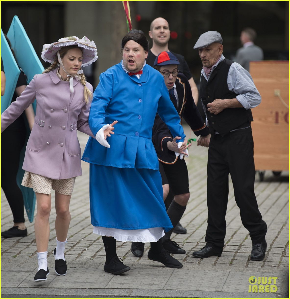 james corden films mary poppins skit with ben kingsley 013907760