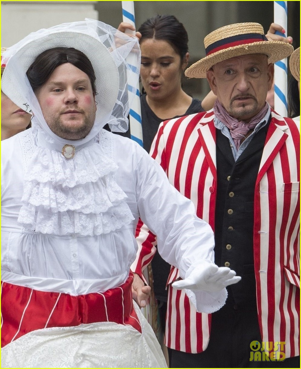 james corden films mary poppins skit with ben kingsley 063907765