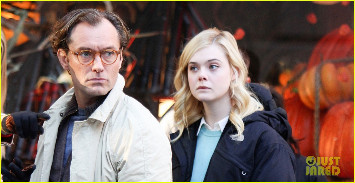 elle fanning jude law and rebecca hall film woody allen movie in nyc 01