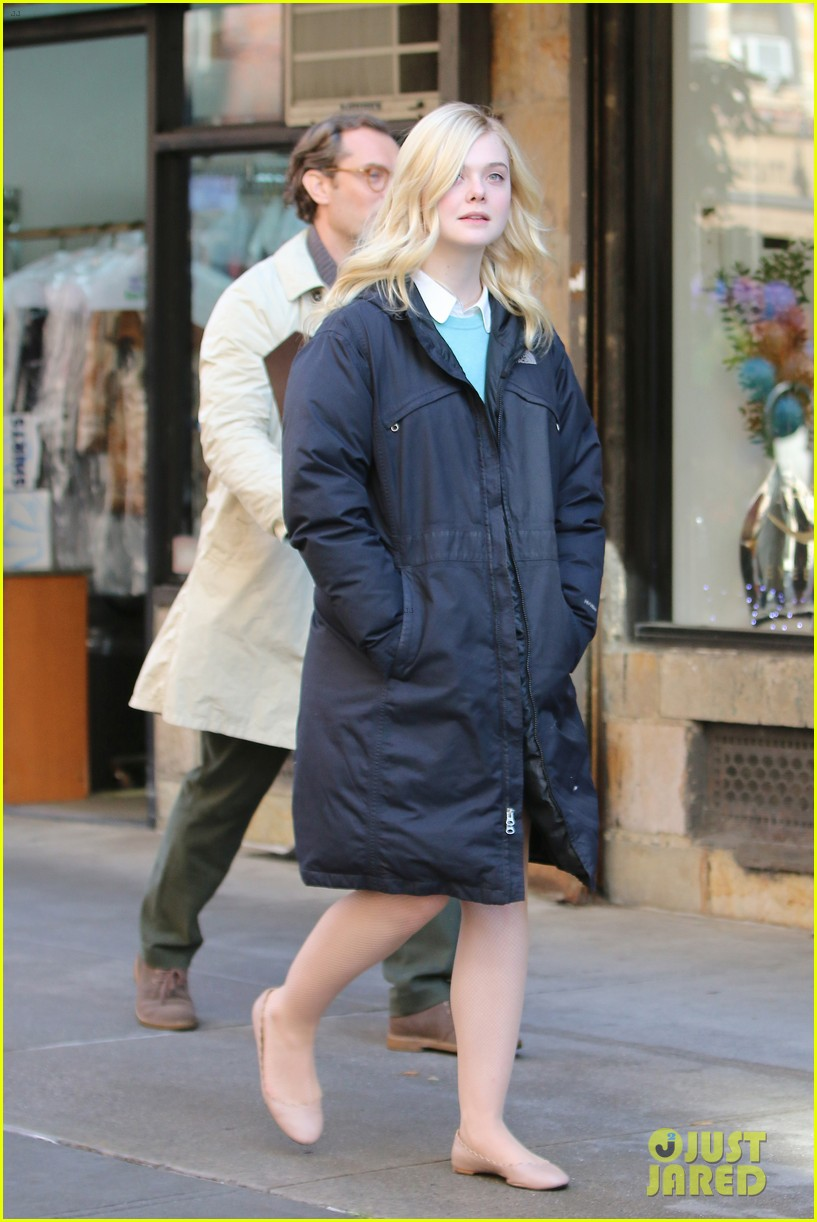 elle fanning jude law and rebecca hall film woody allen movie in nyc 083974729