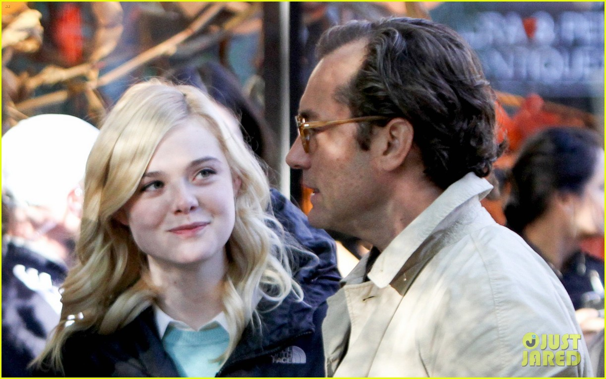 elle fanning jude law and rebecca hall film woody allen movie in nyc 133974734