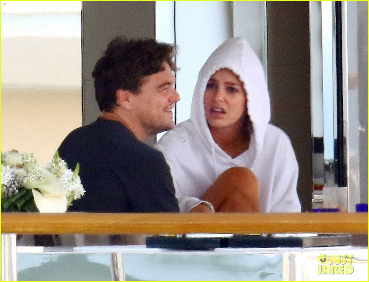 leonardo dicaprio relaxes on a yacht with camila morrone 014123185