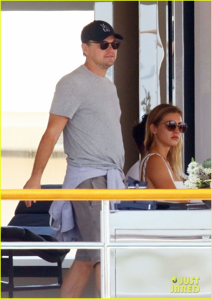 leonardo dicaprio relaxes on a yacht with camila morrone 064123190