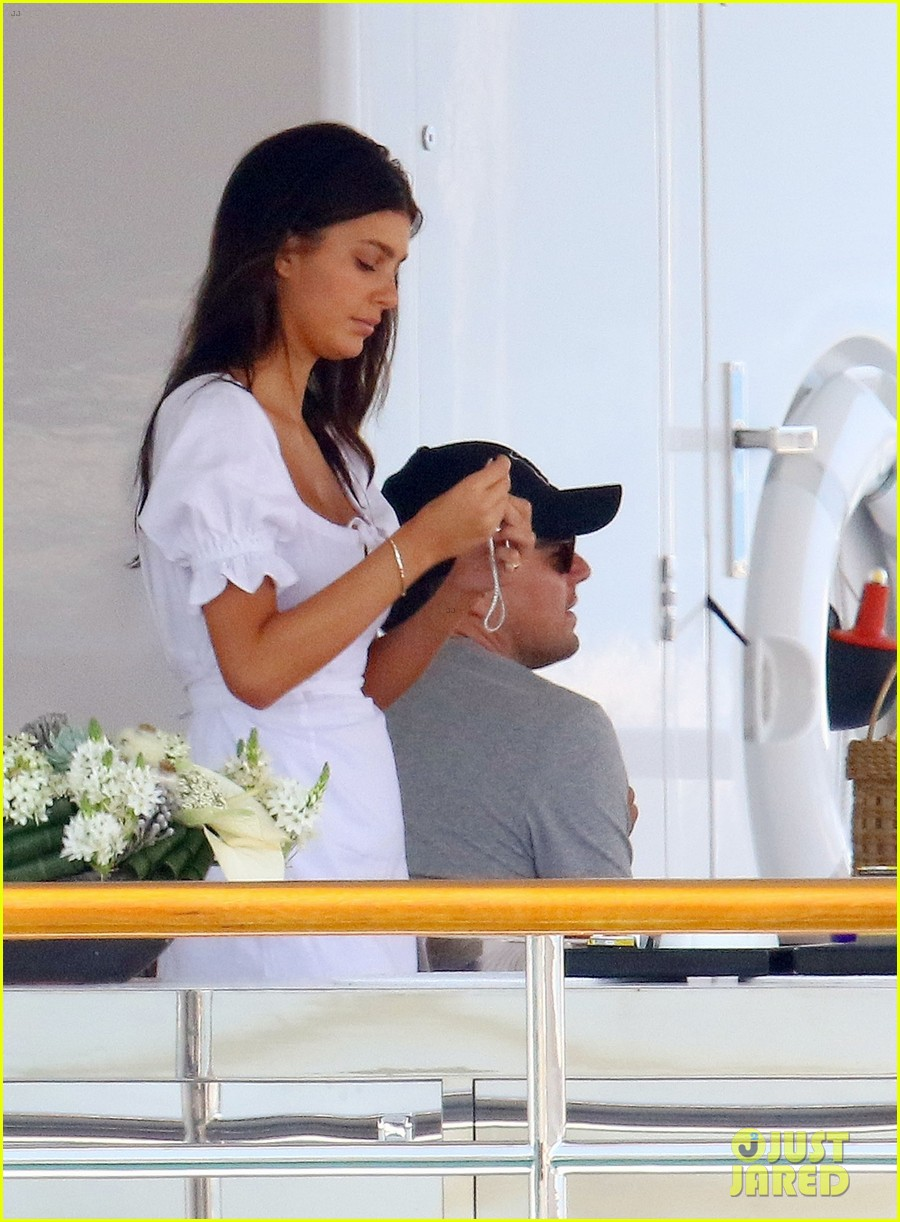 leonardo dicaprio relaxes on a yacht with camila morrone 074123191