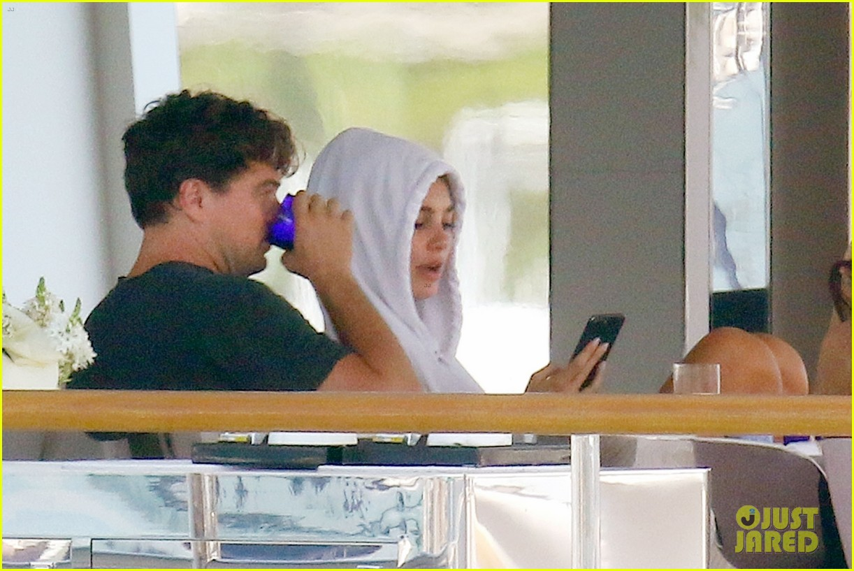 leonardo dicaprio relaxes on a yacht with camila morrone 114123195