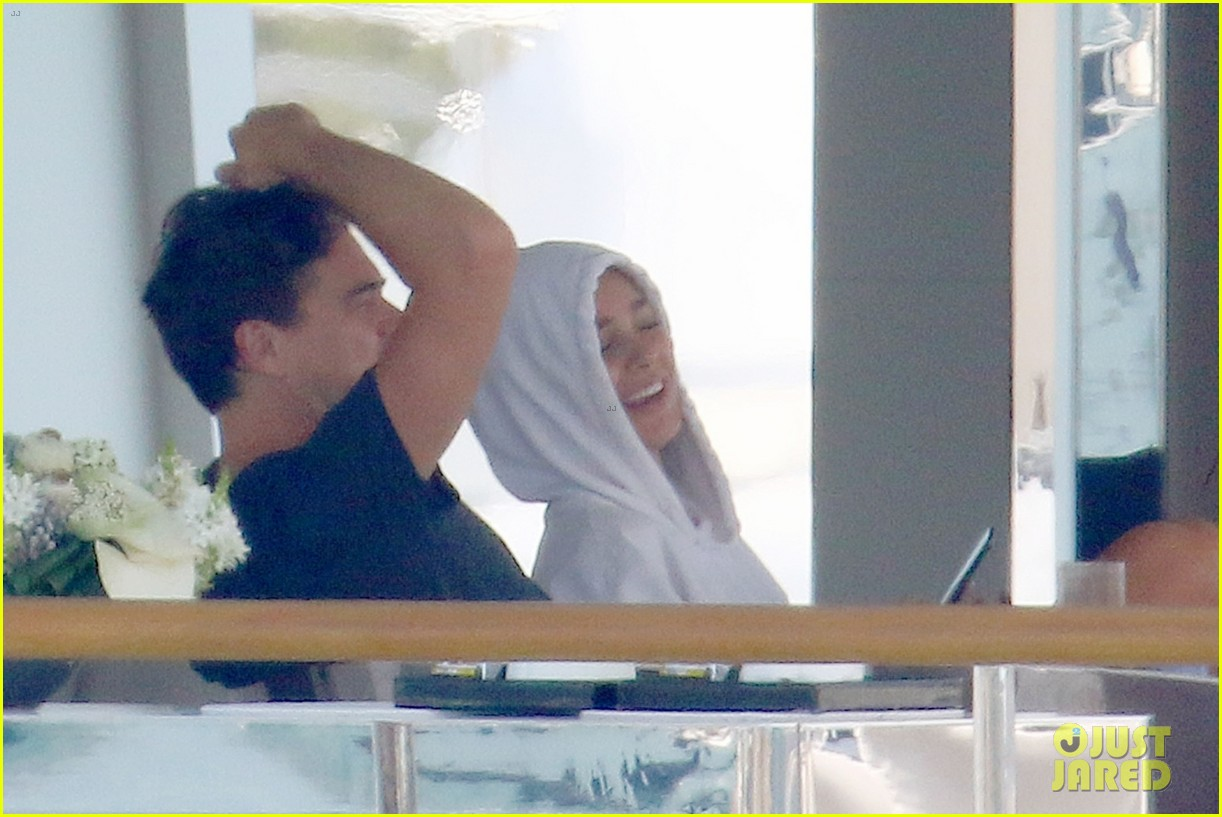 leonardo dicaprio relaxes on a yacht with camila morrone 124123196