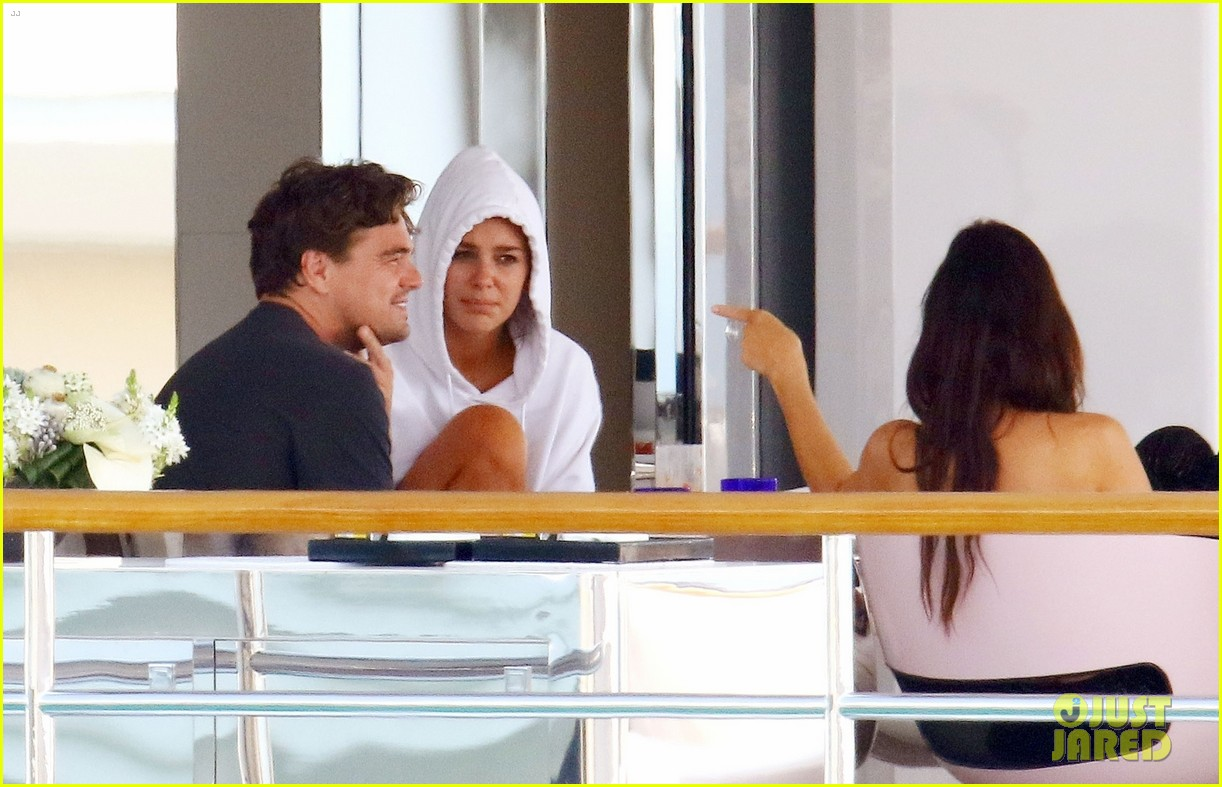 leonardo dicaprio relaxes on a yacht with camila morrone 144123198