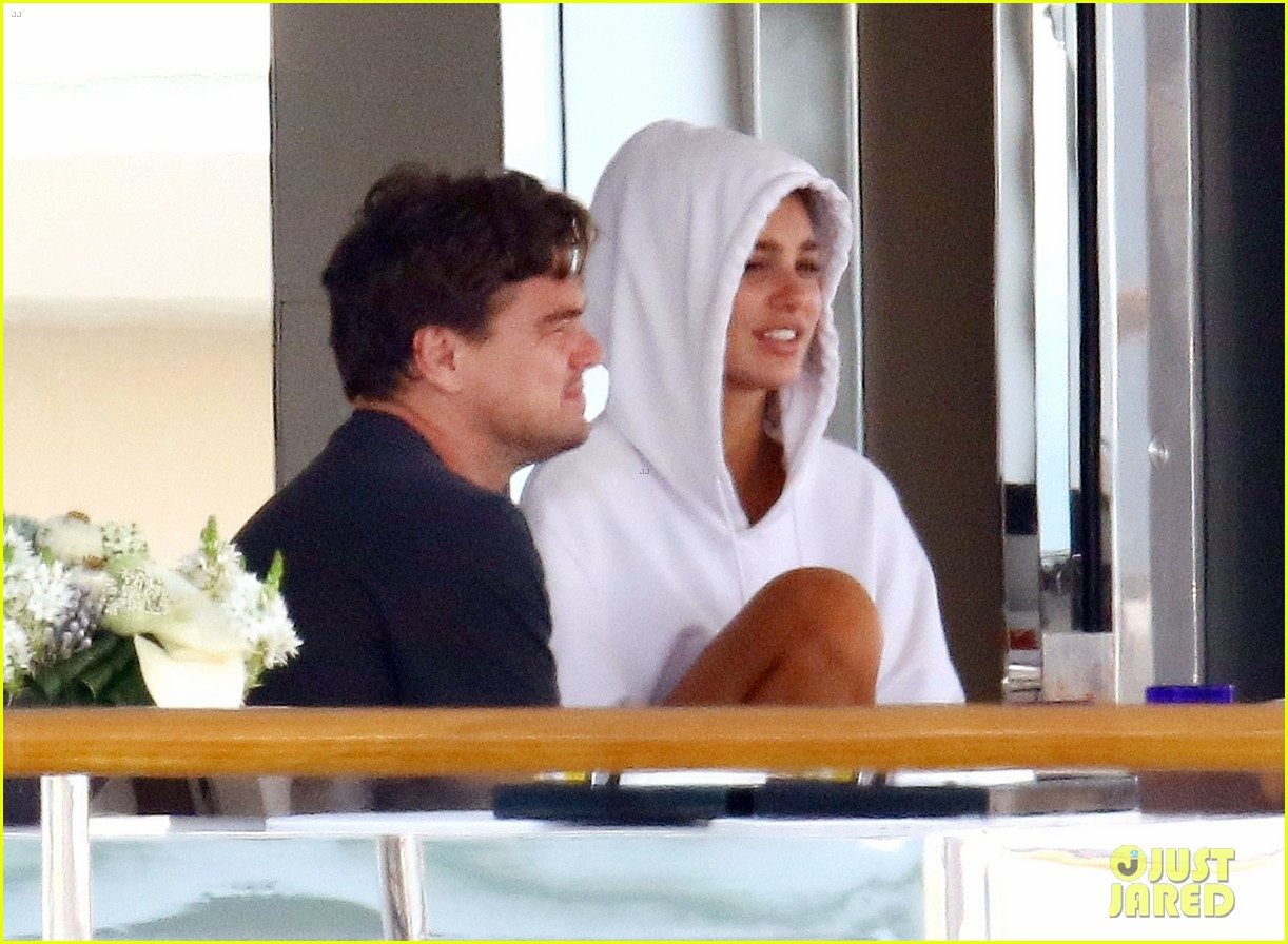 leonardo dicaprio relaxes on a yacht with camila morrone 154123199