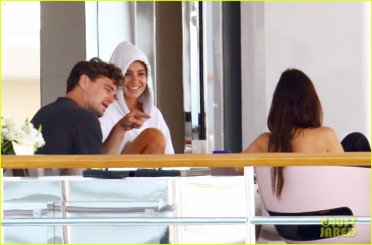 leonardo dicaprio relaxes on a yacht with camila morrone 174123201