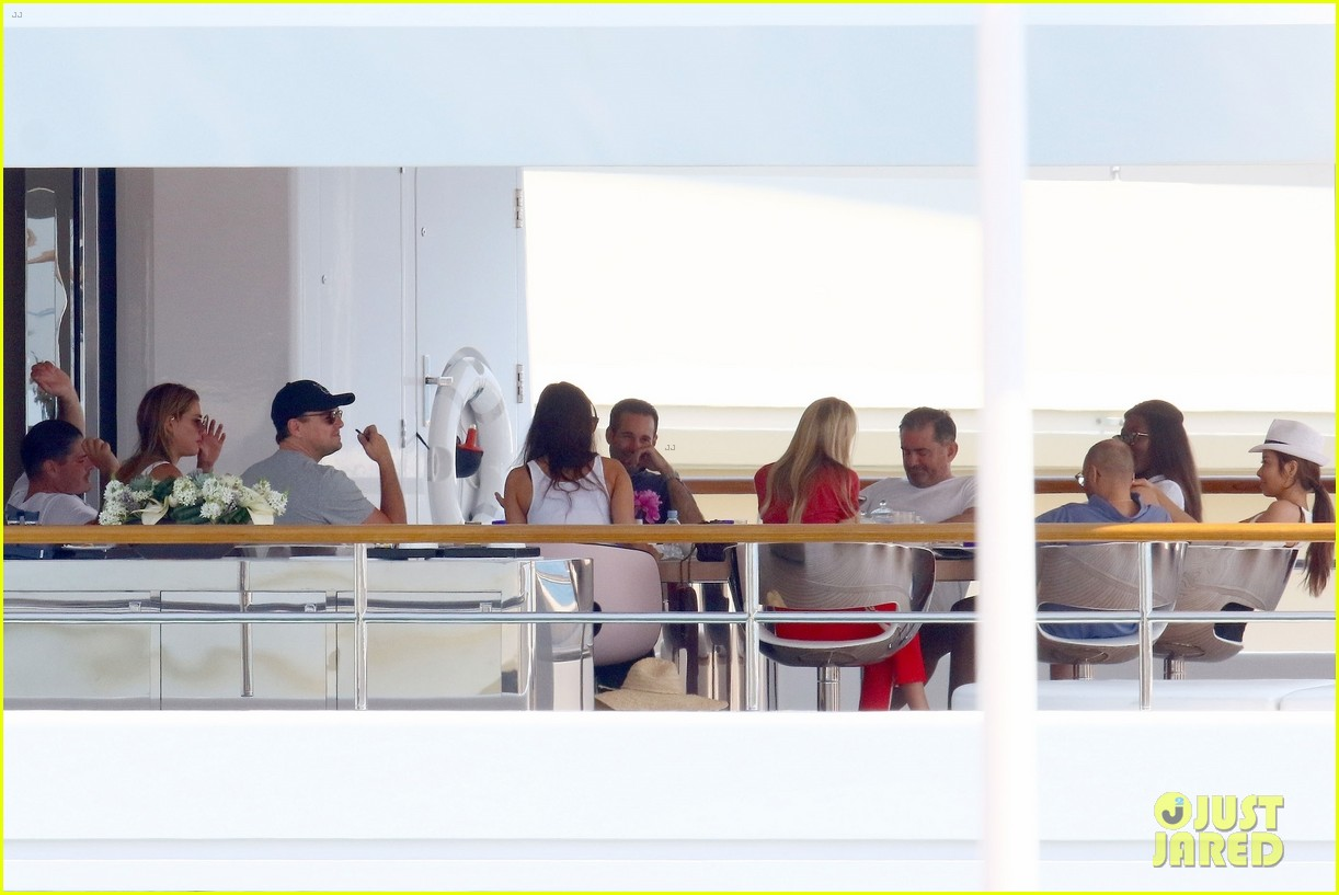 leonardo dicaprio relaxes on a yacht with camila morrone 244123208