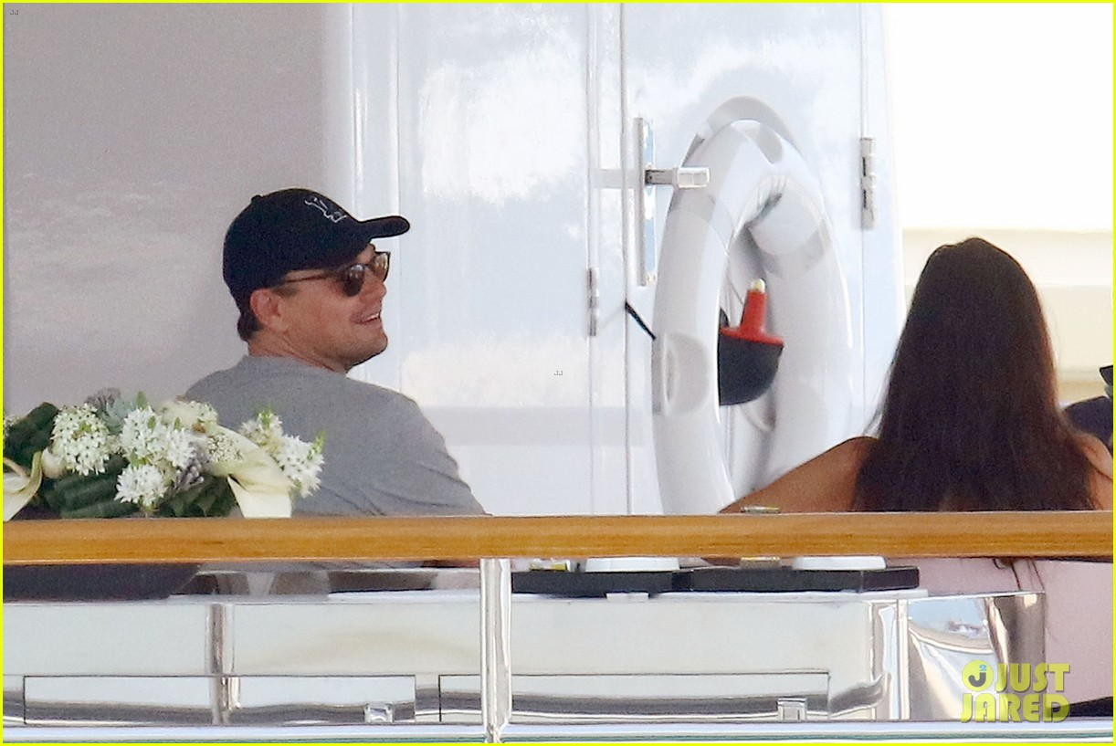leonardo dicaprio relaxes on a yacht with camila morrone 254123209