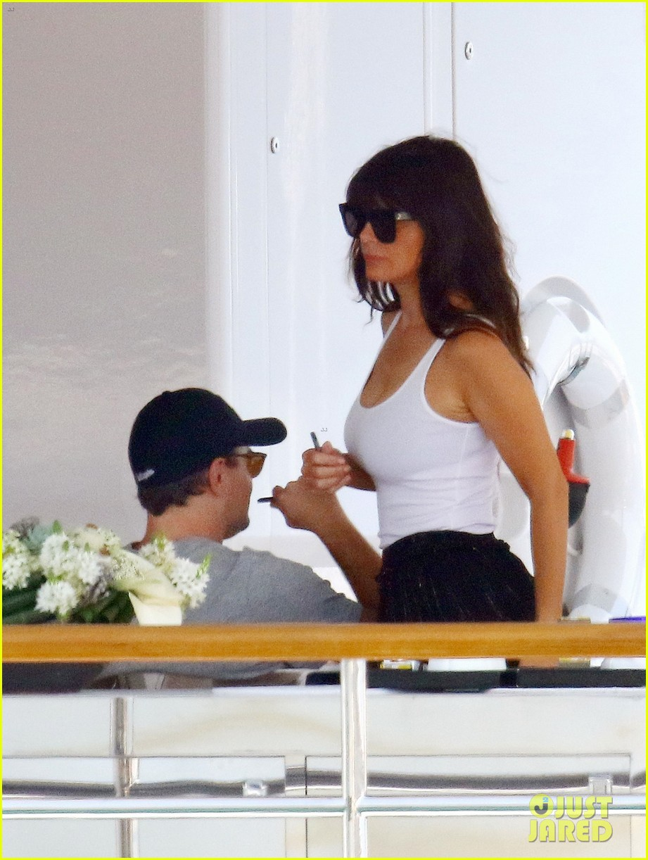 leonardo dicaprio relaxes on a yacht with camila morrone 264123210