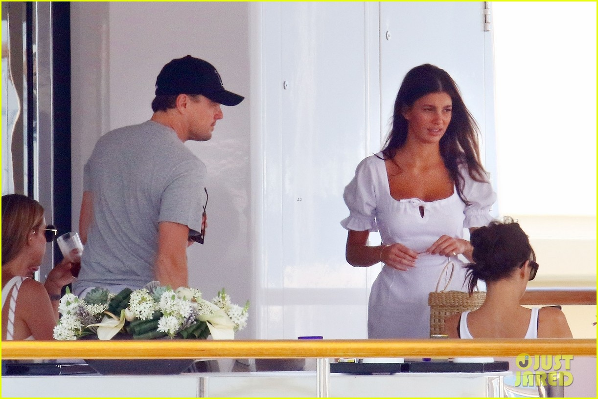 leonardo dicaprio relaxes on a yacht with camila morrone 294123213