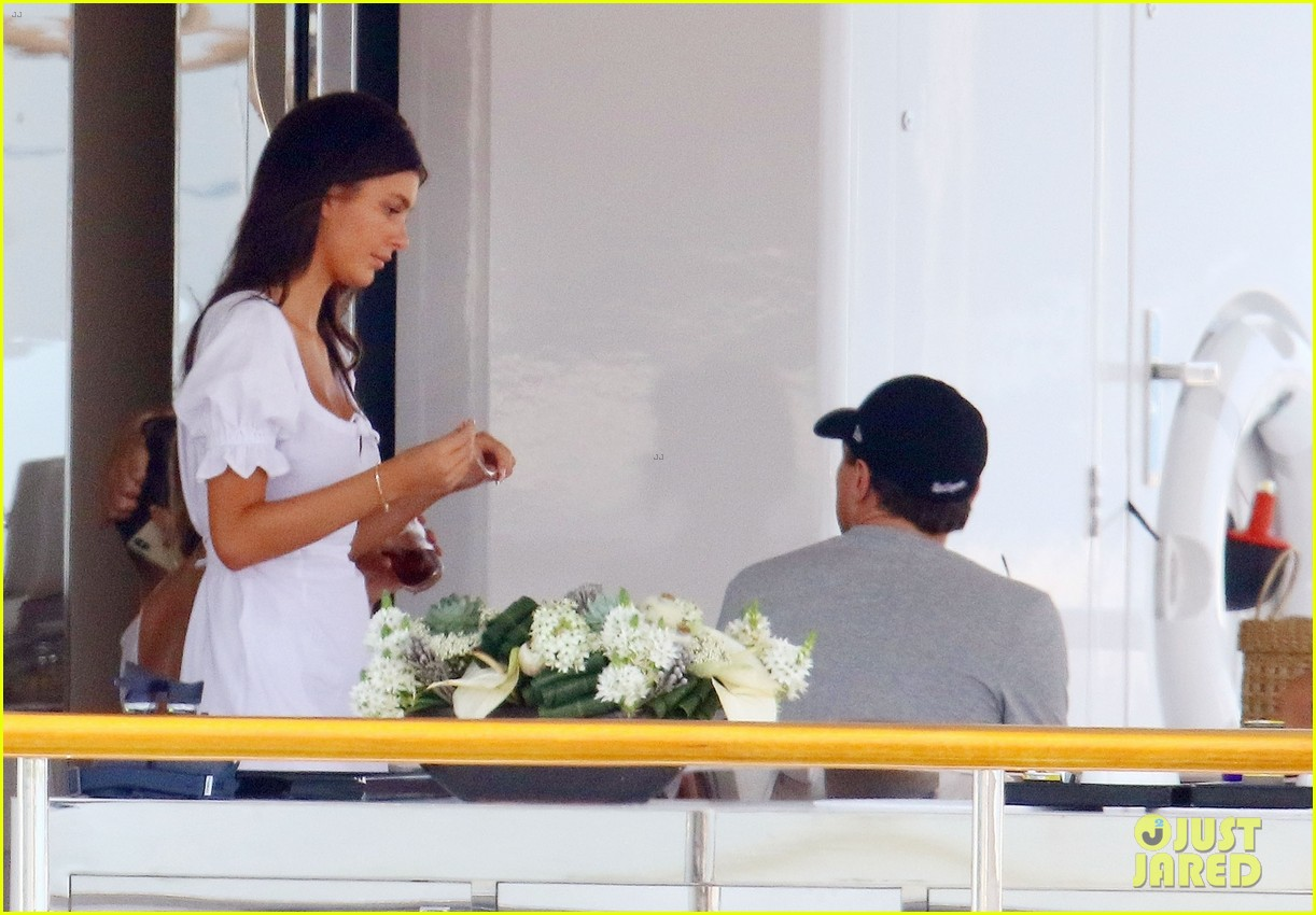leonardo dicaprio relaxes on a yacht with camila morrone 334123217