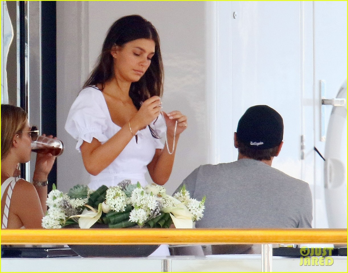 leonardo dicaprio relaxes on a yacht with camila morrone 344123218