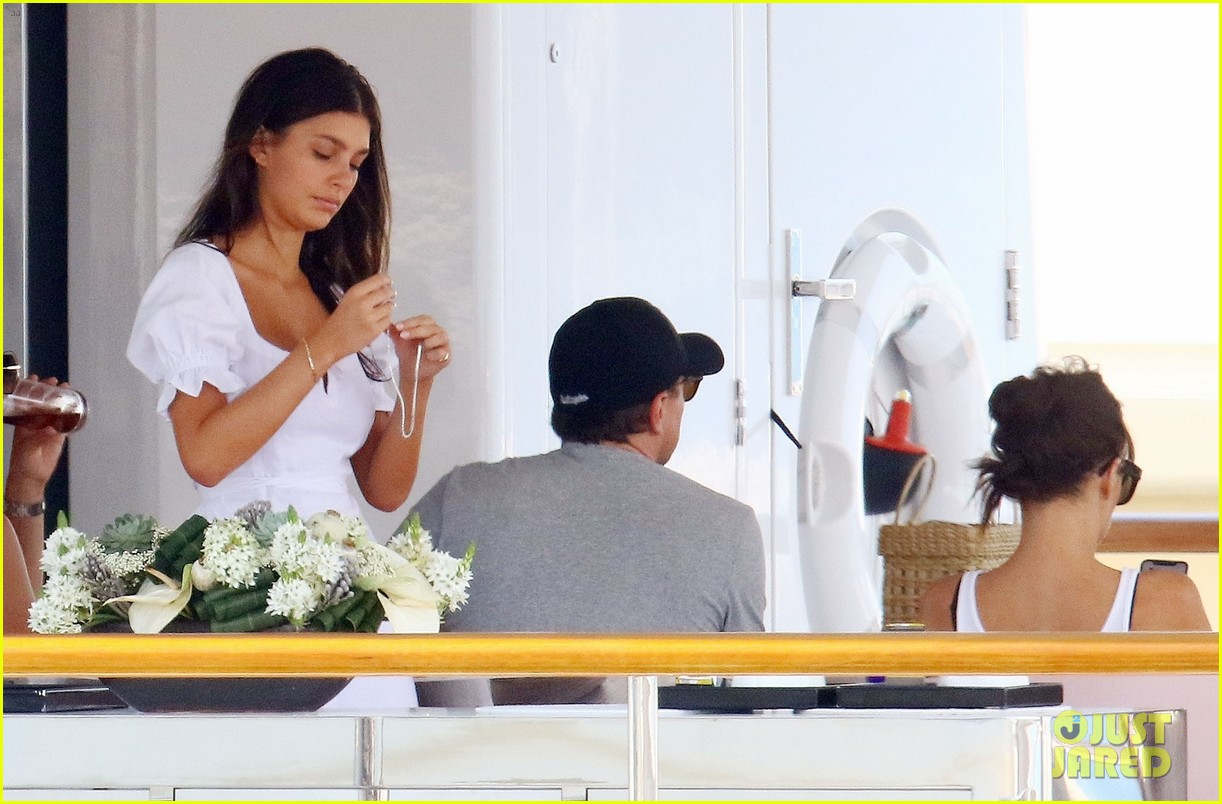 leonardo dicaprio relaxes on a yacht with camila morrone 354123219