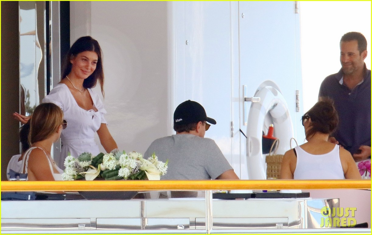 leonardo dicaprio relaxes on a yacht with camila morrone 404123224