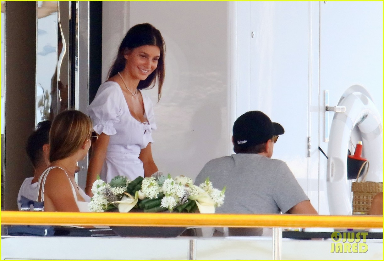 leonardo dicaprio relaxes on a yacht with camila morrone 414123225