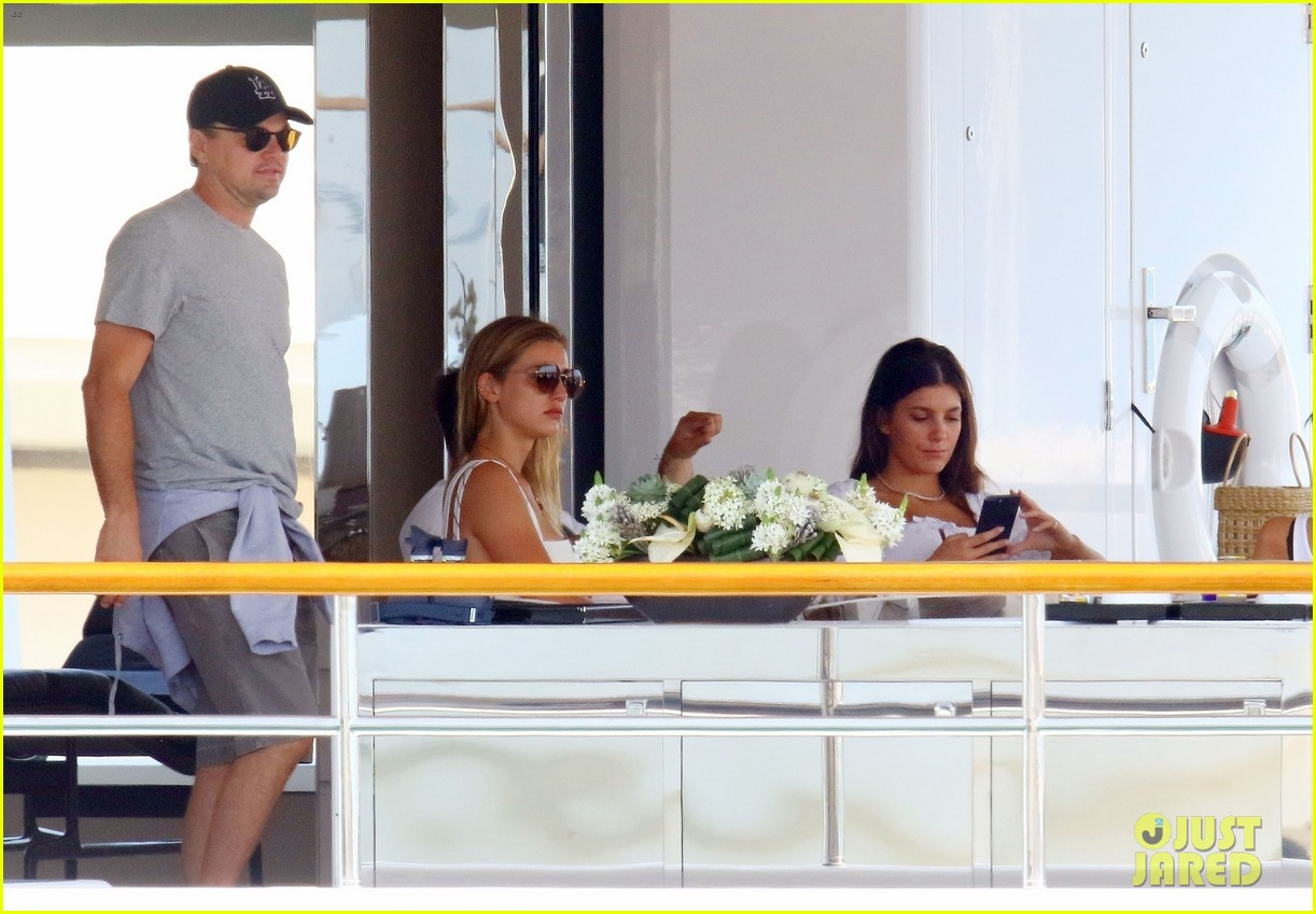 leonardo dicaprio relaxes on a yacht with camila morrone 444123228