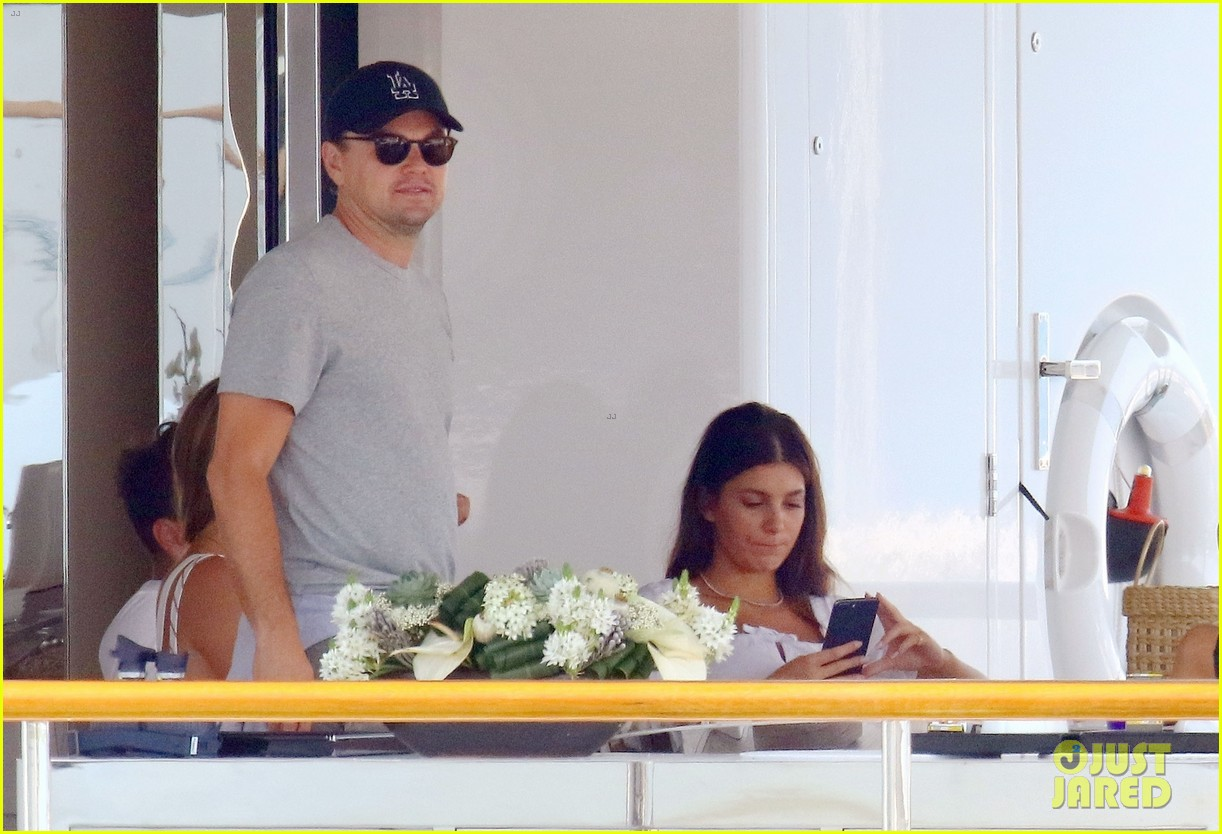 leonardo dicaprio relaxes on a yacht with camila morrone 454123229