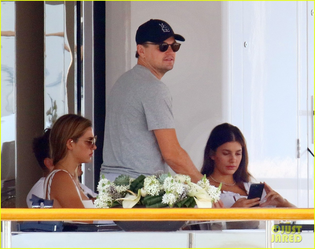 leonardo dicaprio relaxes on a yacht with camila morrone 464123230