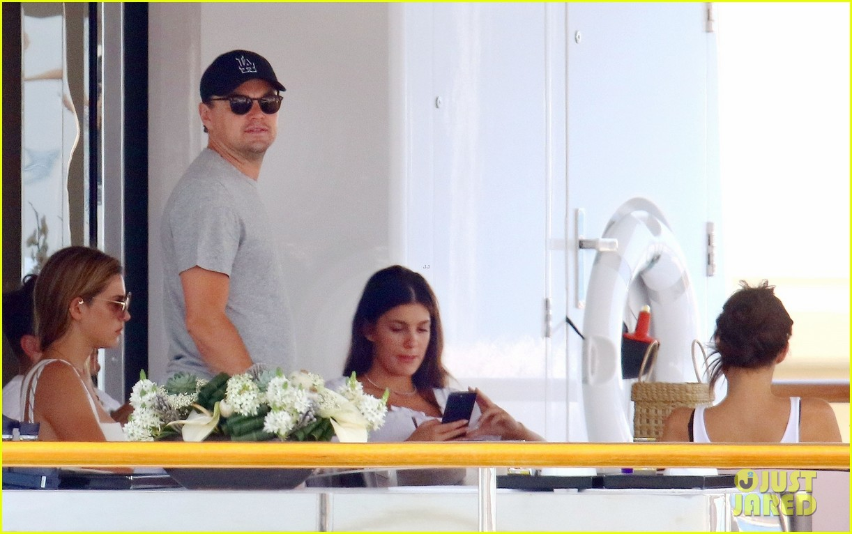 leonardo dicaprio relaxes on a yacht with camila morrone 474123231