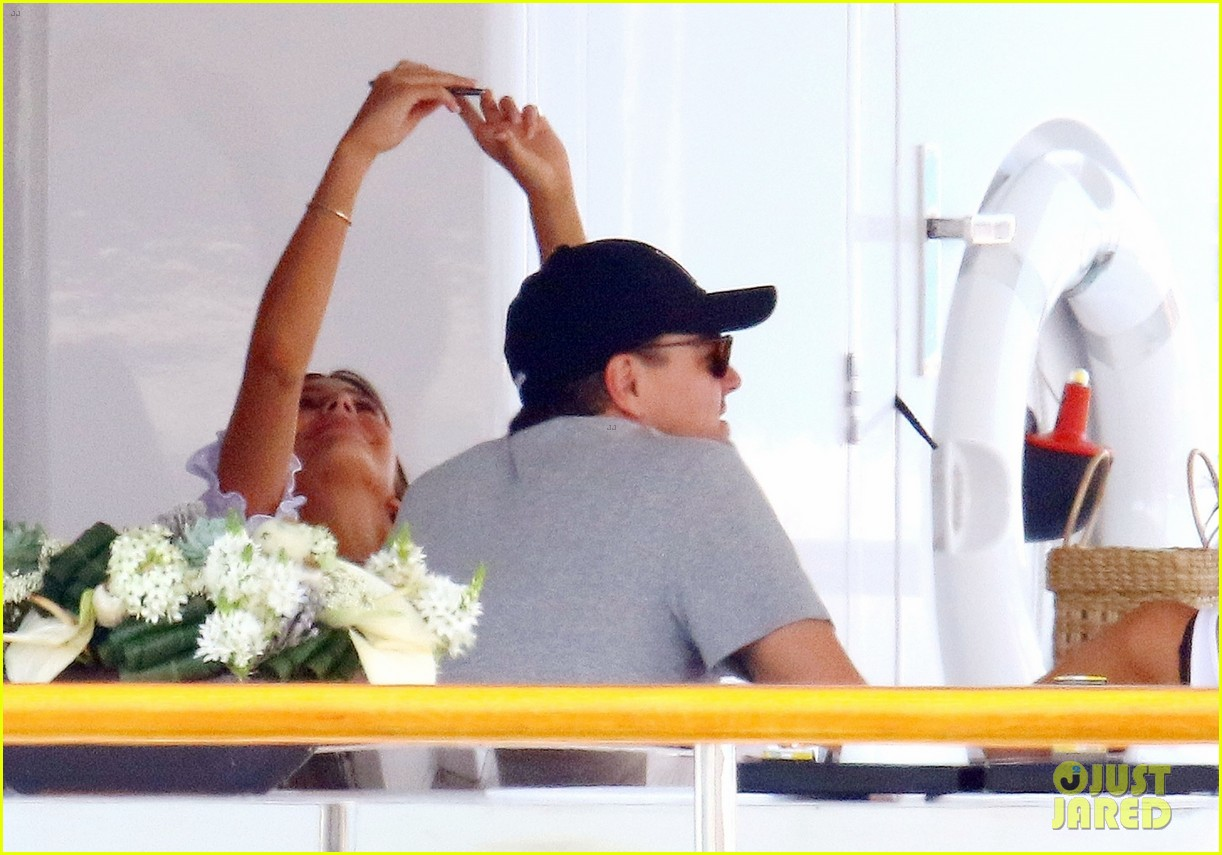 leonardo dicaprio relaxes on a yacht with camila morrone 494123233