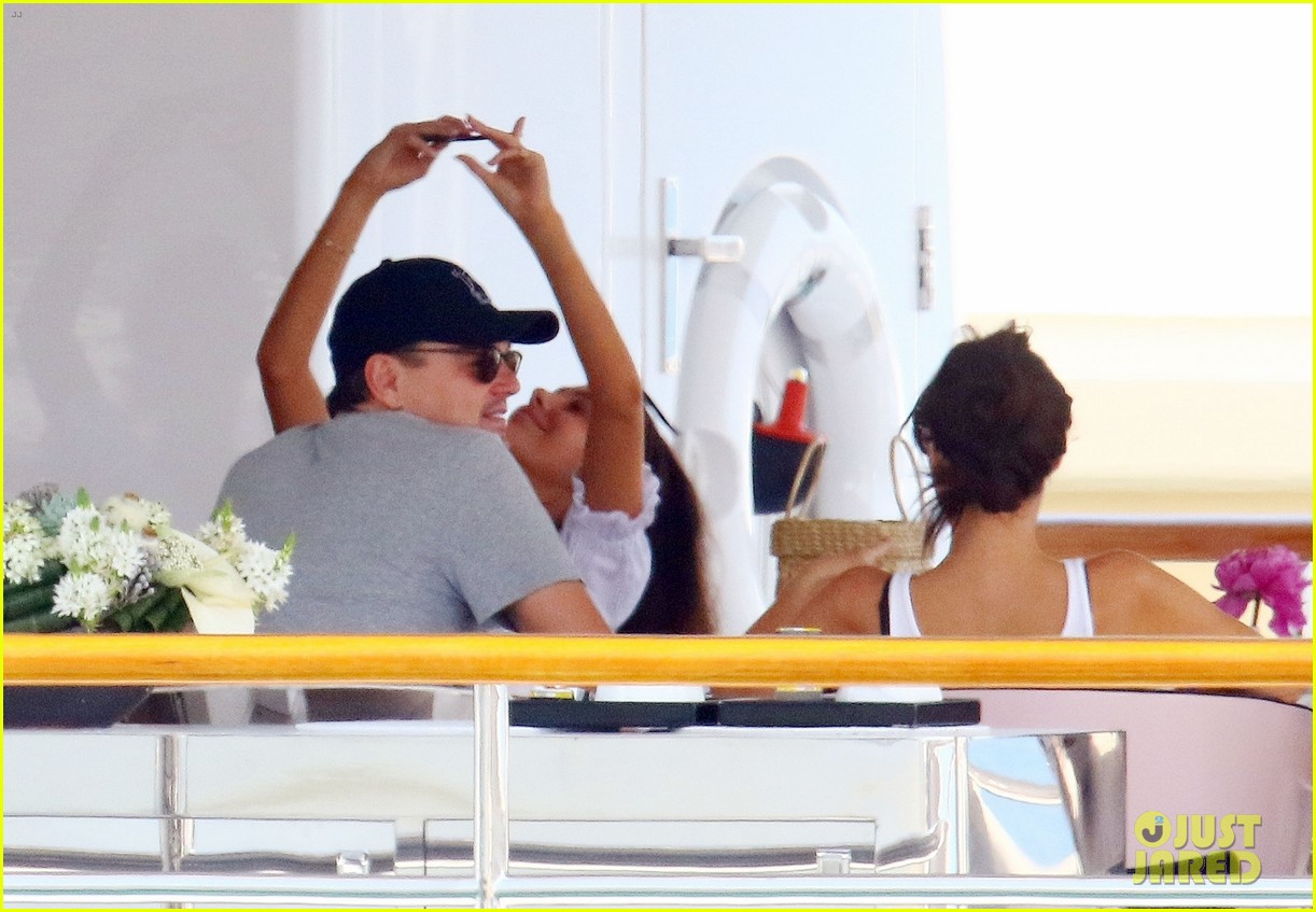 leonardo dicaprio relaxes on a yacht with camila morrone 504123234