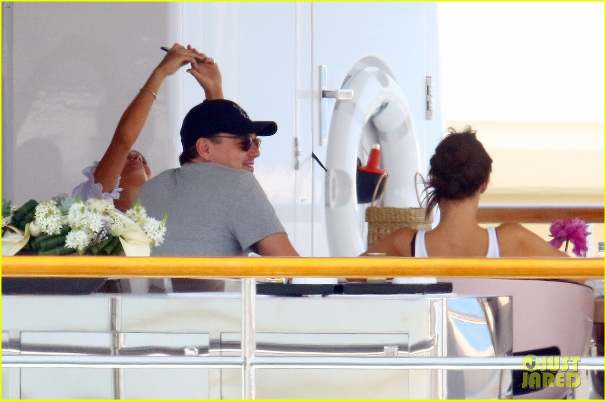leonardo dicaprio relaxes on a yacht with camila morrone 514123235