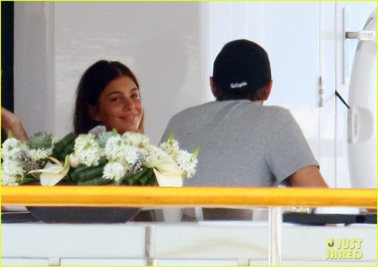 leonardo dicaprio relaxes on a yacht with camila morrone 534123237