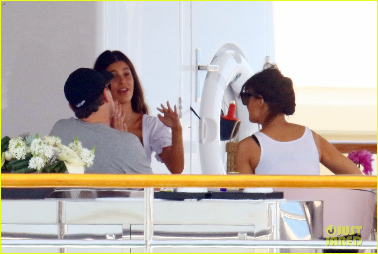 leonardo dicaprio relaxes on a yacht with camila morrone 584123242